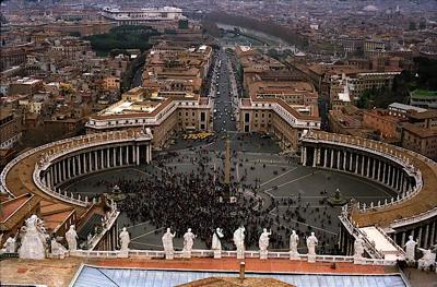 View from St. Peter Basilica, Vatican