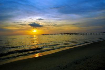 Illusory Sunset Over Kumarakom Lake In Kerala