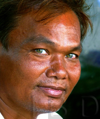 Man with beautiful eyes - River Kwai, Thailand
